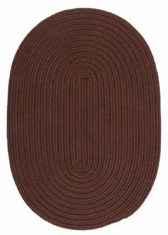 """Boca Raton Chocolate Rug Rug Size: Round 3' by Colonial Mills. $63.00. BR82R036X036 Rug Size: Round 3' Features: -Technique: Braided.-Material: 100pct Polypropylene.-Origin: USA.-Reversible.-Stain resistant.-Fade resistant. Construction: -Construction: Hand guided. Dimensions: -Pile height: 0.5"""".-Overall Dimensions: 34-168'' Height x 22-132'' Width. Collection: -Collection: Boca Raton."""