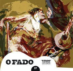 """2012 O Fado de José Malhoa 100 Anos 27 [Tugaland/A Bela e o Monstro] ilustração: Luís Lázaro """"O Fado"""" #albumcover #illustration #fado #music"""