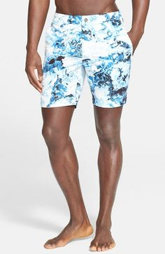 ONIA+'Calder'+Watercolor+Print+Swim+Trunks+available+at+#Nordstrom