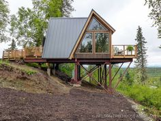 alaskan mountain treehouse