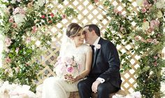 Floral Lattice Ceremony Backdrop