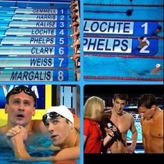 Lochte beat phelps tonight in the finals of the 400 IM. Both advance to the 2012 Olympics in London
