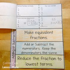 Blogpost: Interactive Notebook foldables for Fractions; division models