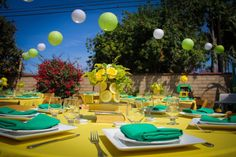 yellow graduation party | Graduation Party Decor Yellow Green
