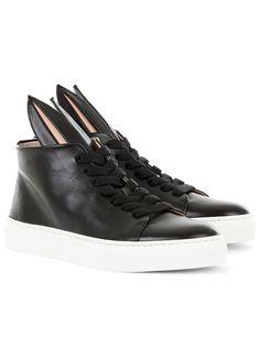 Black High-Top Bunny Sneakers   Minna Parikka   Avenue32