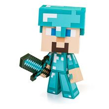 Minecraft 6 Inch Steve Action Figure Vinyl Diamond Steve With Sword Mojang Dimond Edition Steve Figure Toy(China (Mainland))
