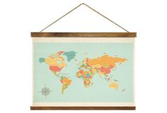 Vintage Map on Canvas