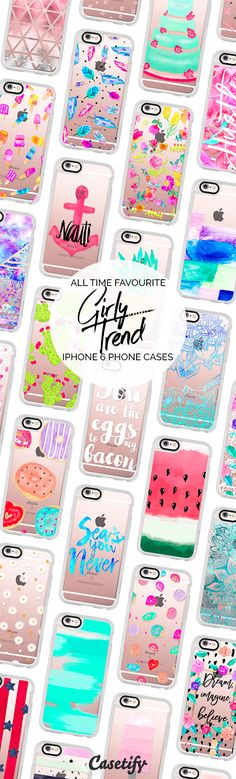 All time favourite iPhone 6 protective phone case designs by @girlytrend | Click through to see more iphone phone case ideas >>> https://www.casetify.com/girlytrend/collection #chic | @casetify