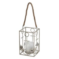 Privilege International Anchor Candle Lantern White - 88854