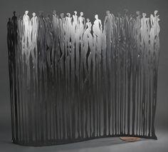 Arno (né en 1975) - La grande parade, Acier découpé et martelé, une face polie et cirée et l'autre patinée rouille, 2014