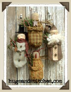 Free Primitive Christmas Patterns | Country Crafts and Primitive Country Decor