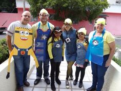 Halloween Make your own Minion costume Minion Costumes, Holiday Costumes, Halloween Make, Make Your Own, How To Make, Minions, Dress Up, Hats, Fashion