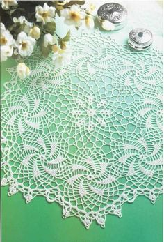 Crochet doily 'Windmills Turning' see free pattern