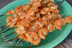 "Grilled Chili Lime Shrimp - Voted 2 thumbs up from my family. My hubby called it ""restaurant quality"". Great dish for upcoming Father's Day or any celebration."