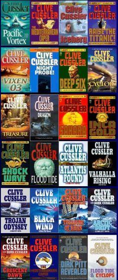 Clive Cussler novels ---The best books I've read