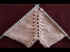 Robada – Reglan Kolda Şekilli Arttırma - knitting for babies Knitting Stiches, Knitting Videos, Crochet Videos, Knitting For Beginners, Baby Knitting Patterns, Knitting Designs, Free Knitting, Crochet Patterns, Diy Crafts Knitting