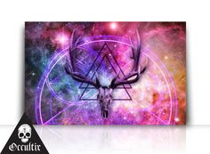 Deer Skull Canvas Print New Age spiritual occult by Occultix