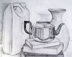 Object Drawing Kitchen Utensil Medium Pencil On Paper