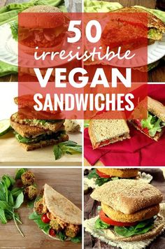 Looking for a quick, easy and hearty plant-based meal? No sweat! This collection includes 50 amazingly delicious vegan sandwiches that are sure to satisfy your cravings!