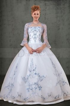 I LOVE THIS.  http://www.dressale.com/bell-sleeves-for-organza-embroidered-ball-gown-wedding-dress-p-8274.html- For more amazing finds and inspiration visit us at http://www.brides-book.com/#!brides-book-outlet-bridal/c9wq