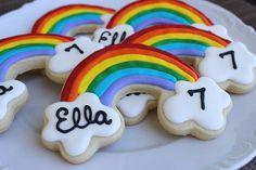 Rainbow Cookies by AuntieBeasBakery on Etsy, $36.00