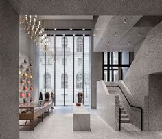 david chipperfield adds clock face to his valentino flagship store in new york