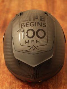 100mph, carbon helmet