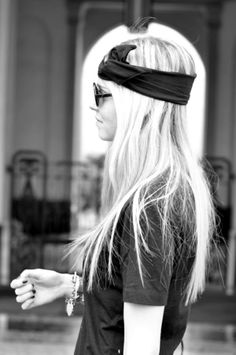 Hair Scarf Styles - Add a scarf to your hair for a little something extra.