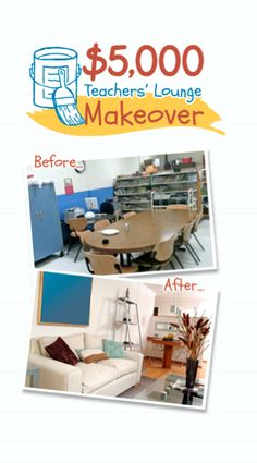 Get on board with TeacherLists.com and you could win a $5,000 prize for a teachers lounge makeover.