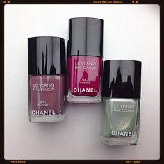 Chanel Spring 2015 Nail Polishes | 641 Tenderly | 643 Disiro | 645 Paradisio