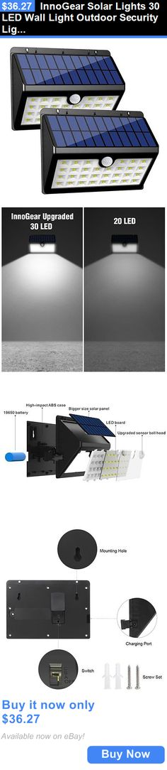 farm and garden: Innogear Solar Lights 30 Led Wall Light Outdoor Security Lighting Nightlight For BUY IT NOW ONLY: $36.27
