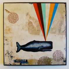 a whale of a time doing mixed media