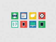 Check out 8 Flat Icons by PSDDICTED on Creative Market
