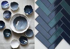 idée déco cuisine bleu marine