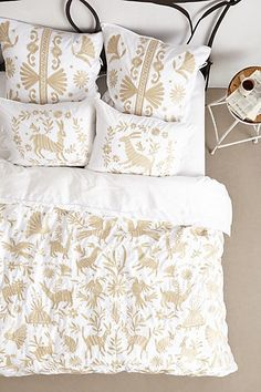 Stencil your own duvet to look just like this one using our Otomir Stencil for just $42.95 versus a whopping $368 for the original by Anthropologie duvet.