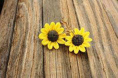 Sunflower Sunflower Earrings Sunflower Jewelry by DRaeDesigns