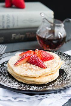 Fluffy Lemon Ricotta Pancakes | breakfast for dinner #valentinesday #ideas  #pancakes