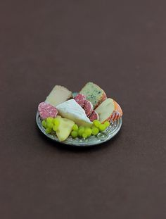 Dollhouse Miniature Dinner Spiral Ham Platter ~ Food for the Table