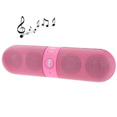 F-808 Mini Pill Portable Multi-function Bluetooth Speaker with FM Radio, Support TF Card / Handsfree(Pink)