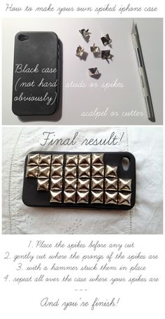 diy spiked iphone case