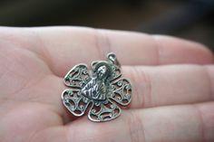 HUGE SALE... Vintage Sterling Silver  Jesus Halo Flower by Lanter, $29.99