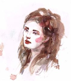WOMaN PORTRAIT INK AND WATERCOLOUR