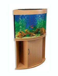 Compass Rose 36 Gallon Corner Fish Tank - Without Aquarium Kit