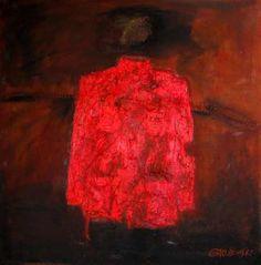 Gao Zengli, Tunic #3, 2006, Oil on Linen, 90 x 90 cm
