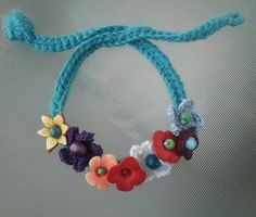 Cute crochet flower choker by HomeintheValley on Etsy