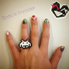 Nail art by Brenda (Office Manager) // Bead art ring by Mio (Community Manager).