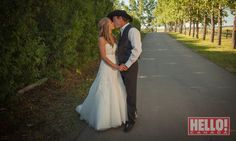 Amber found her dress - a Private Label by G gown with a sweetheart neckline and lace detailing - after trying on just three gowns. Shawn topped off his look with a 10-gallon black hat.
