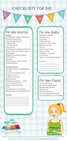 Checkliste für die Geburt: was in die Kliniktasche für Mama, Papa und Baby gehört.