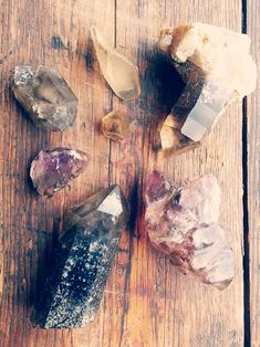 Someone's beautiful crystal collection. Magic.