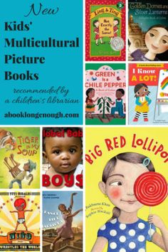 My favorite new multicultural picture books for kids ages 2 to 10! Chosen by a children's librarian.